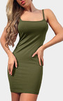 Army Verde Bodycon Mini vestido de